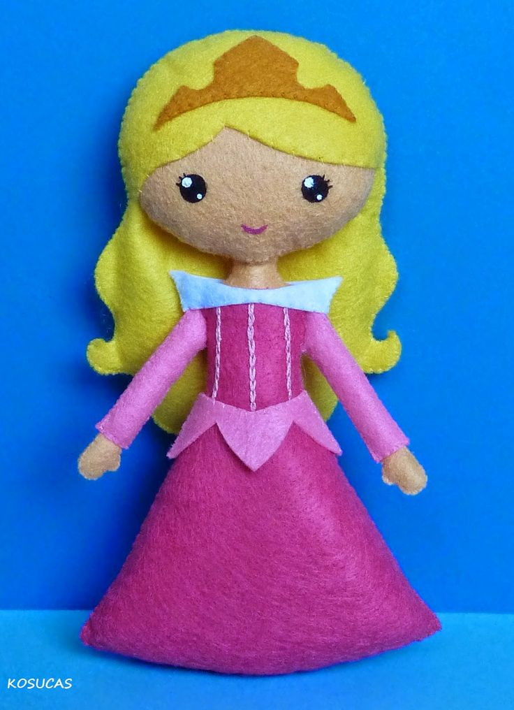 Kosucas ||| Princess Aurora/Briar Rose, Sleeping Beauty, Disney, felt, fabric, sew, plush, toy, doll