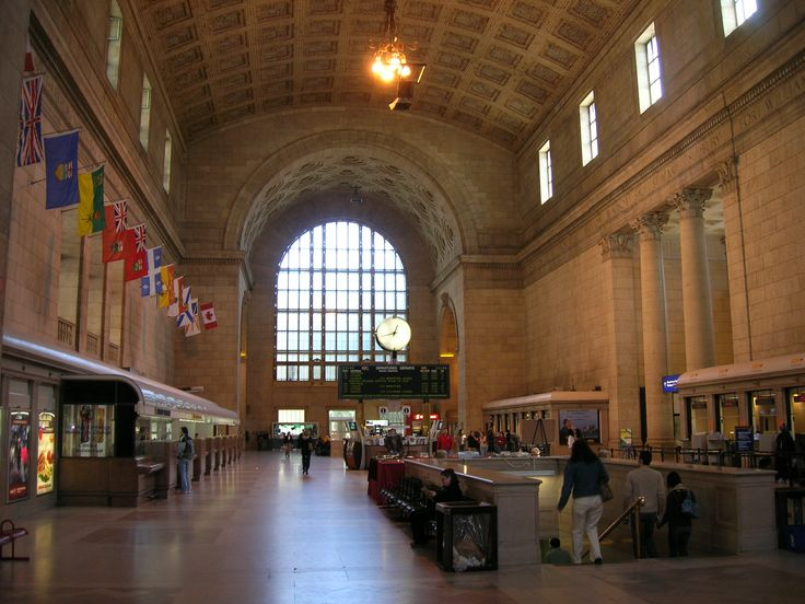 """Union Station's Ticket Lobby, also informally known as the """"Great Hall"""""""