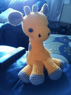 """Baby Giraffe Free Amigurumi Pattern - PDF File click """"available for free"""" here: http://www.ravelry.com/patterns/library/baby-giraffe-amigurumi"""