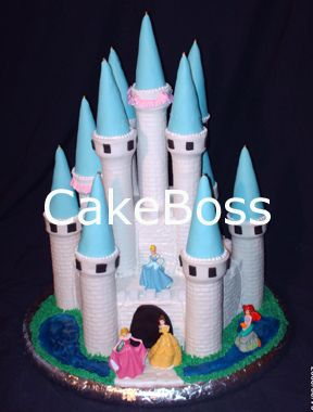 Castle Cake Tutorial by CakeBoss my daughter would loves this as a bday cake GOOOD