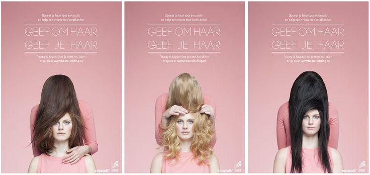 Posters campagne ter bewustwording haar doneren - Haarverzorging, Haaruitval, Haarproblemen, Haarziekten, | HAARSTICHTING.NL