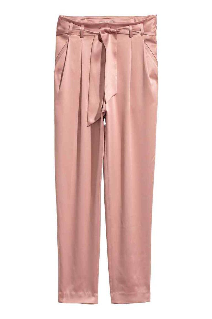 Pantalon en satin - Vieux rose - FEMME | H&M CA