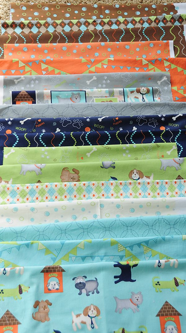 I <3 Puppies collection by Heather Mulder Peterson  (Eva's quilt??)