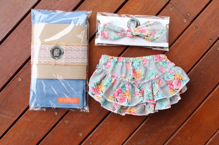 Mummy and Me Gift Pack - Nappy wallet, bloomies and headwrap