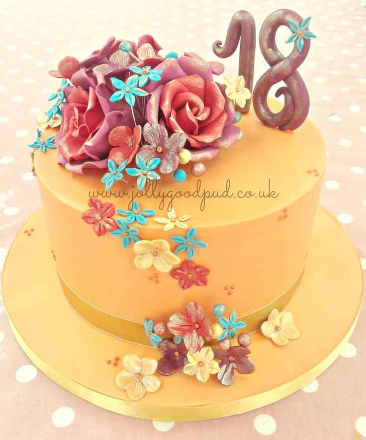 18th Birthday Cake. Www.jollygoodpud.co.uk