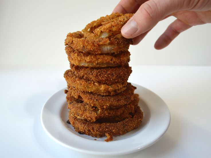 Healthy Onion Rings With Sourdough Breadcrumbs