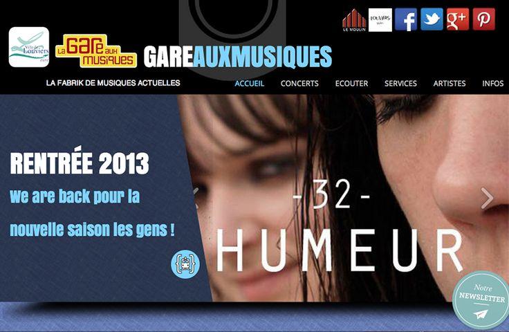 La nouvelle version du site de la Gare aux Musiques est en ligne à #Louviers