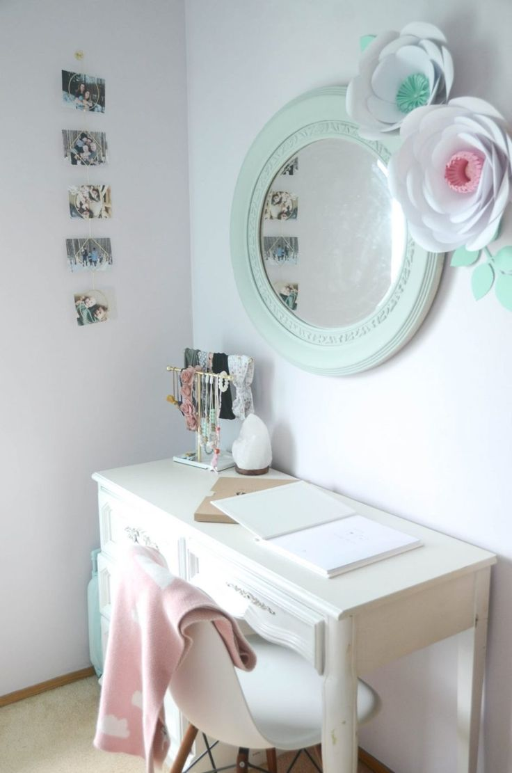 Geo Floral Themed Big Girl Bedroom