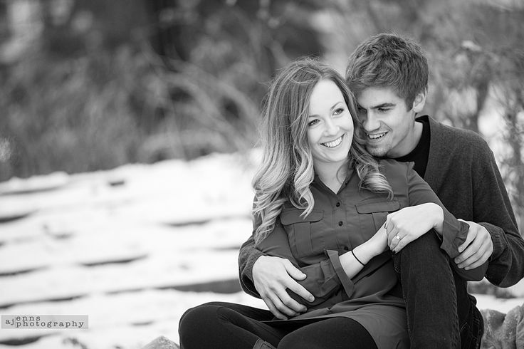 More smiles on engagement sessions in the snow! | AJ Enns Photography