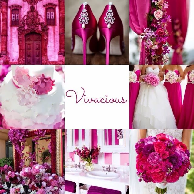 Fuschia wedding. Find the best decor trends for 2015: leather, feather, dots, stripes, metals, modern, strong colors? delightfull.eu   #Amazmerizing