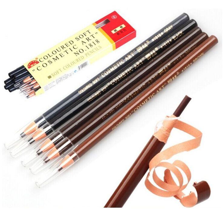 19.5cm Maquiagem Tools Soft Crayon Waterproof Eyebrow Eyeliner Pencil 5 Colors Fashion Women Beauty Makeup Eyebrow Enhancer