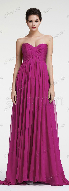 Maternity prom dress prom dress for pregant women - Magenta Evening Dresses Empire Waist Formal Dresses Plus Size