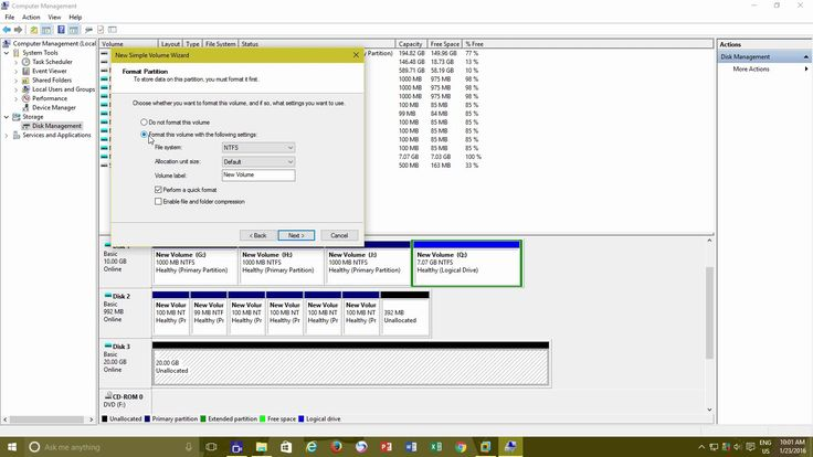 How to Partition a Hard Disk Drive in Windows 10 / 8 / 7