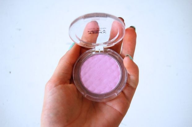 My concealer is great, but once I apply pink-toned blush, I always feel like the redness of my blemishes is being accentuated. This cool, purply blush has changed everything!