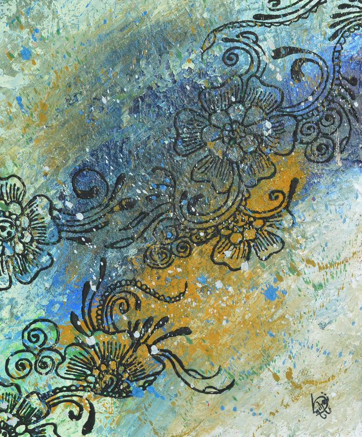 canvas henna abstract painting