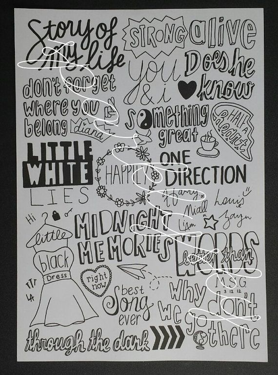 One Direction Collage songs