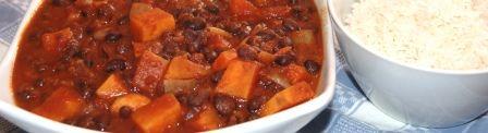 Recipe for Smoky Sweet Potato and Black Bean Chili