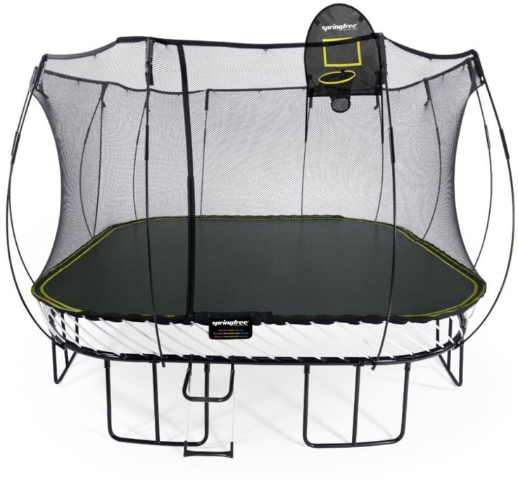 Exterior: Popular Square Trampoline Spring Cover from Wide Square Trampoline