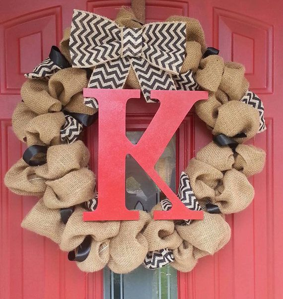 i want to make this. Handmade Natural Burlap Wreath with Interchangeable Bow by one93, $57.00