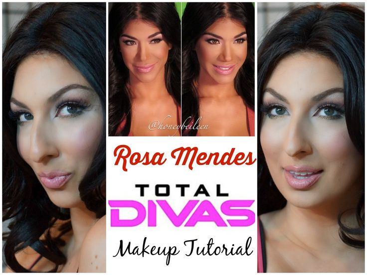 WWE Total Divas Rosa Mendes Makeup Tutorial