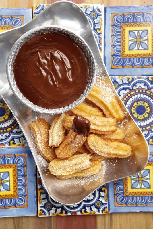 Churros With Spiced Hot Chocolate Recipes — Dishmaps