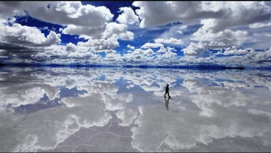 "12 truly mesmerizing places: Salar de Uyuni, Bolivia  "" I started to feel like I was on another planet. The landscape is amazing and not like anything that you will see anywhere else."""