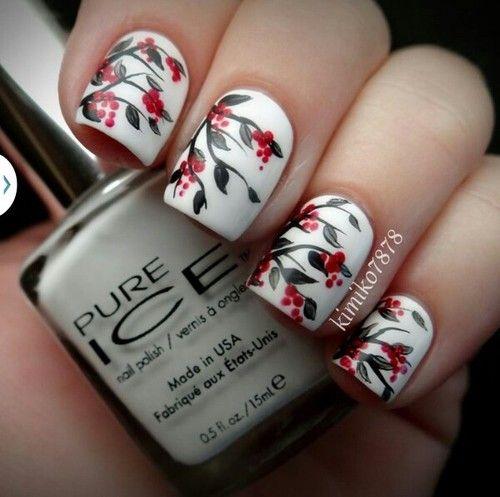 Imagen de nails, nail art, and flowers
