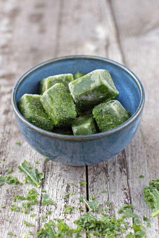 Grünkohl roh einfrieren für Smoothies und Smoothie Bowls