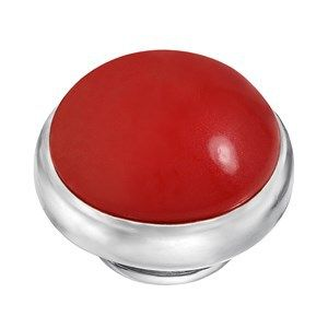 BUTTON-LIKE POPS KAGI GEMPOPS SCARLETT O'HARA STERLING SILVER RED SWAROVSKI PEARL SET - Jons Family Jewellers