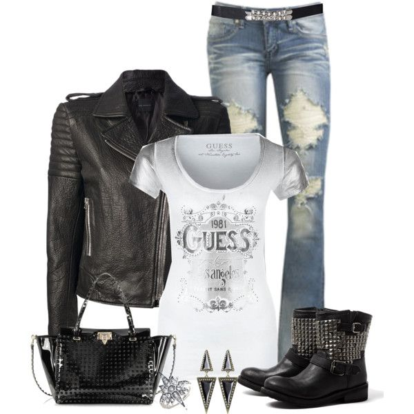 Sexy biker girl outfit-2295