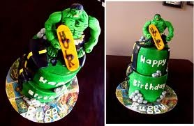 Cool Hulk Birthday cake