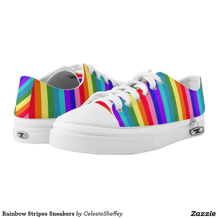 Rainbow Stripes Sneakers  by khoncepts.com