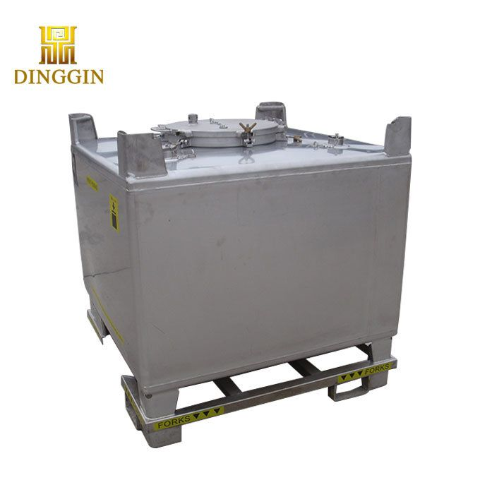 Hot Item Ibc Stainless Steel Container 1000l In 2020 Stainless Steel Containers Stainless Steel Tanks Stainless Steel