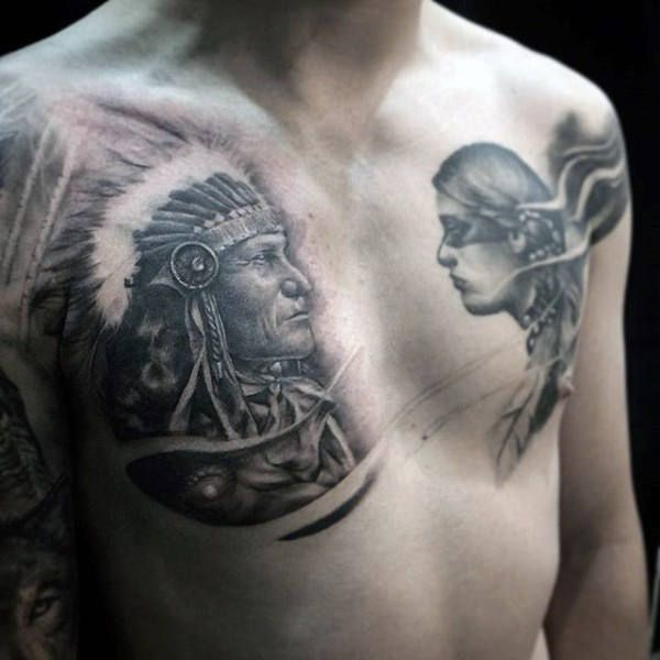 100 Native American Tattoos For Men Ideas 2020 Inspiration Guide In 2020 Native American Tattoos American Tattoos Native Indian Tattoos