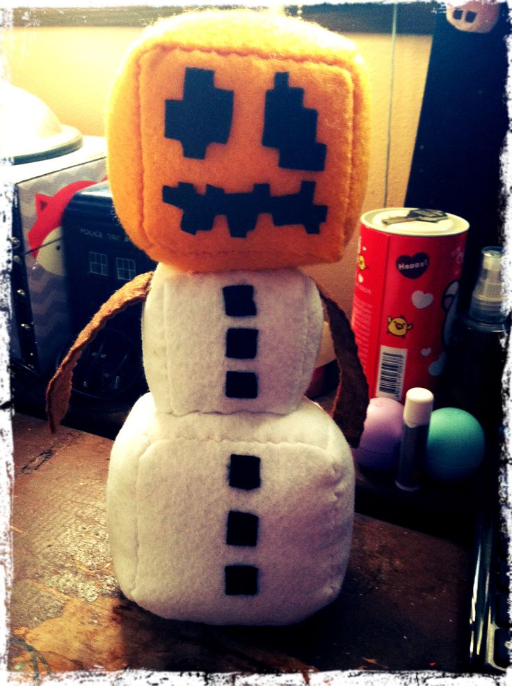 Minecraft Snow Golem Plush Stuff I Ve Made Pinterest