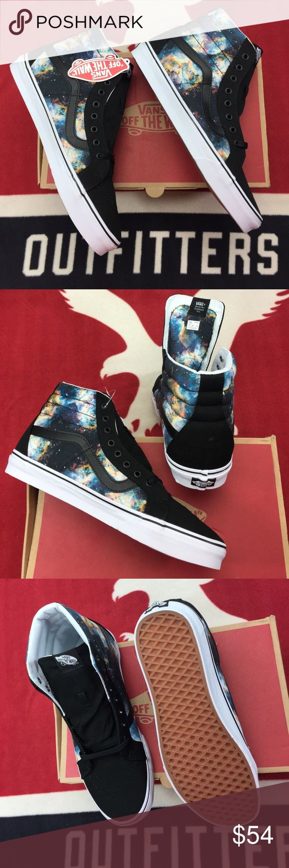 Vans Sk8-Hi Reissue Nebulas' Vans Sk8-Hi, the legendary lace-up high top, features sturdy uppers, re-enforced toecaps to withstand repeated wear, padded collars for support and flexibility, and signature rubber waffle outsoles. Vans Shoes Sneakers