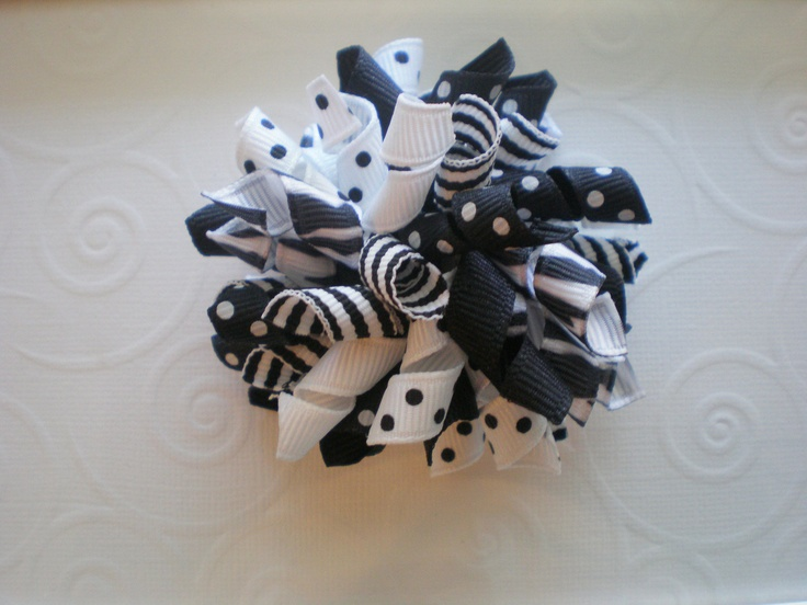 Black and White  Solids Stripes Polka Dots and by CCsChicBowtique, $4.50  #Etsy #hairbows