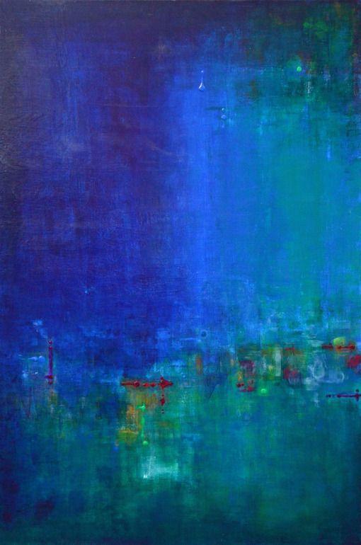 """Saatchi Art Artist: Ana Elisa Benavent; Acrylic 2013 Painting """"Talking With Myself"""" Yes."""