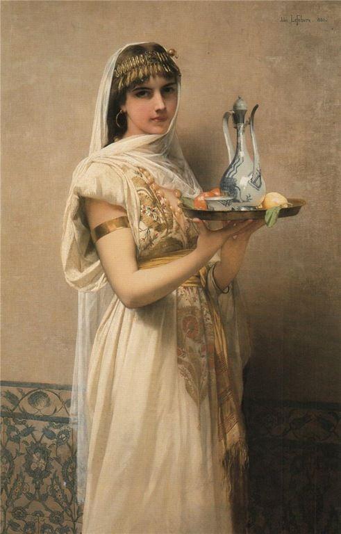 "Jules Joseph Lefebvre - ""Serving tea"""