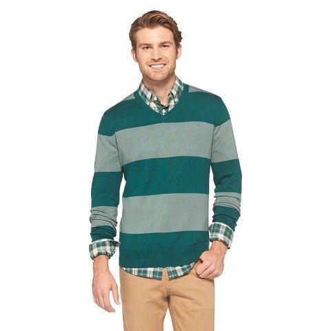 12 Merona Men's Patterned V-Neck Sweater