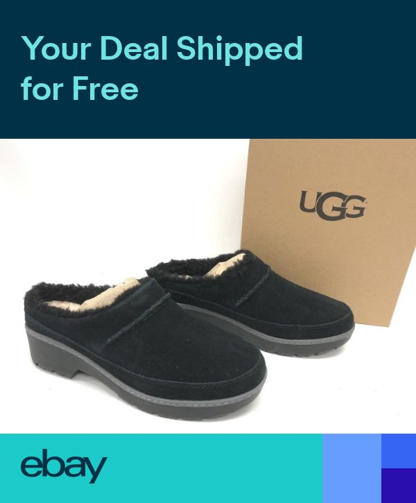 1f881f5d512 UGG Australia Womens Lynwood Clog 1098749 Black Shoes Suede ...