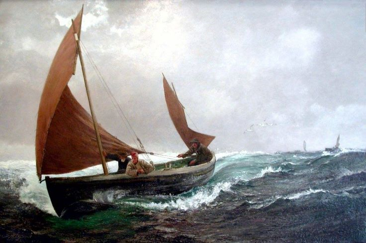 Running for Home by Charles Napier Hemy