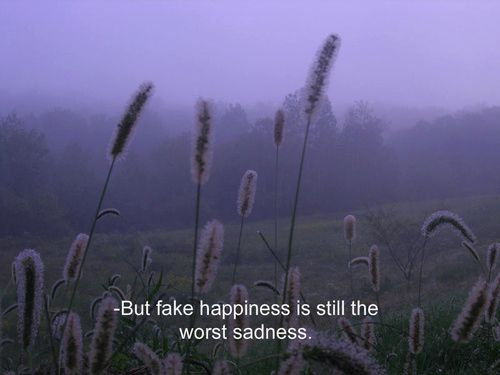 ugh. fake happiness.