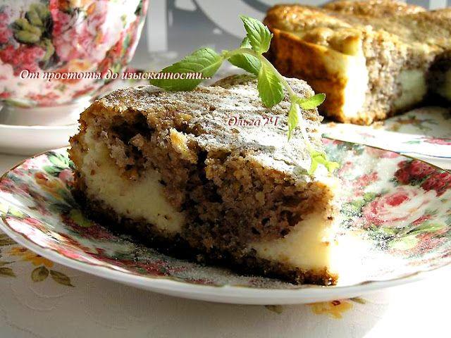 От простоты до изысканности...: Ореховый пирог с творожным кремом