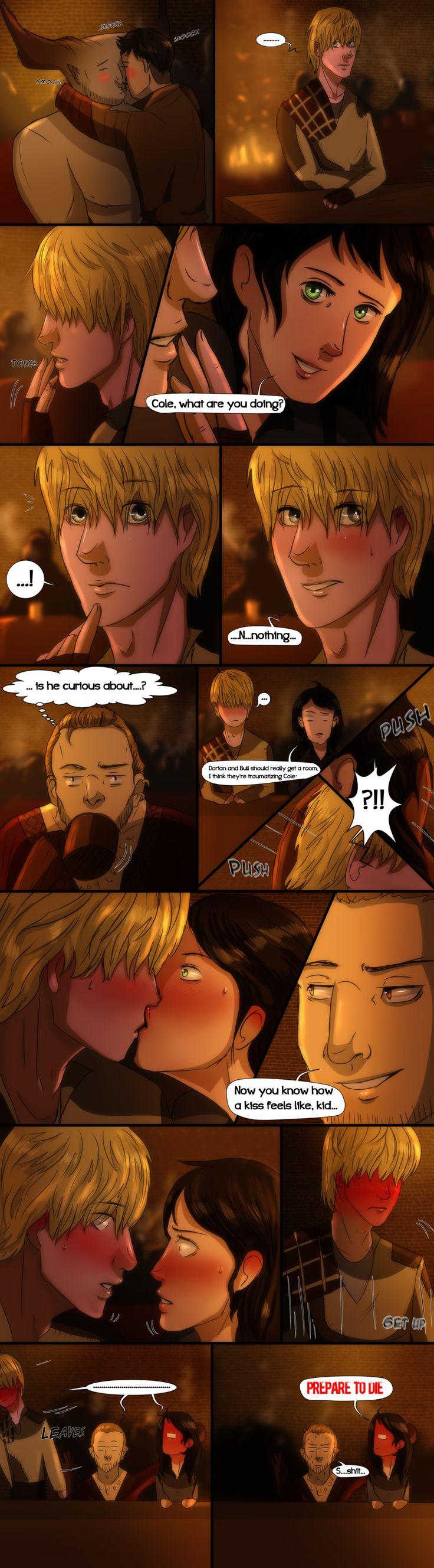 Dragon Age Inquisition- Comic- First Kiss by MsArtisticStuff on DeviantArt