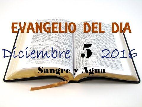 Evangelio del Dia- Lunes 5 de Diciembre 2016- Sangre y Agua
