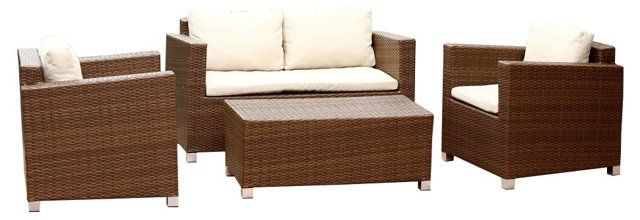 Sandra 4-Pc Outdoor Sofa Set