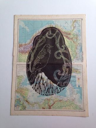 Native Bird Tui  Atlas Woodcut http://www.charlottegraham.co.nz/shop/product/44118/Atlas_Tui_Manu_Woodcut/