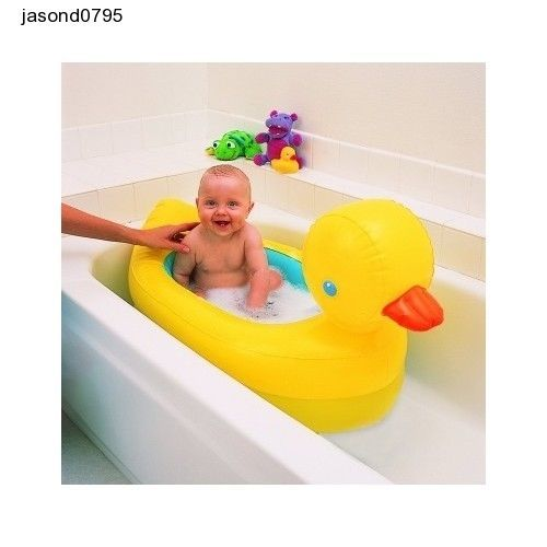 Bath Toys Baby Time Inflatable Duck Kids Playtime Fun Munchkin White Hot Tub