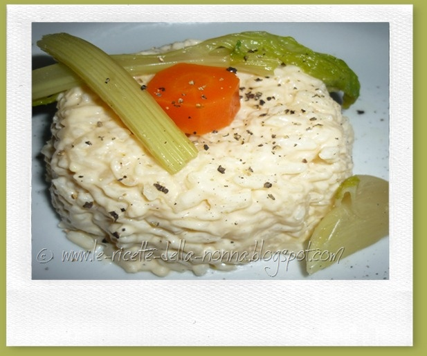 Rice with salmon cream/Risotto delicato con crema al salmone